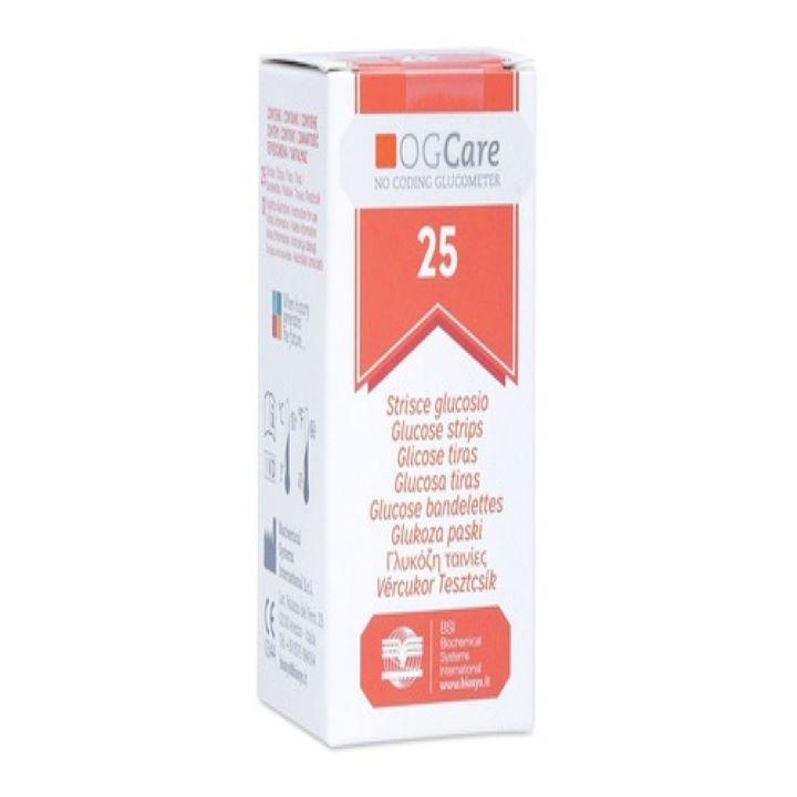 Que thử đường huyết Ogcare (Hộp 25 que) bán chạy