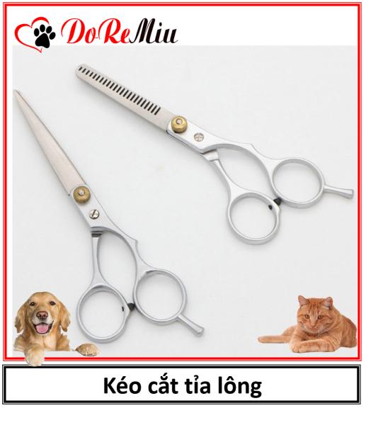 Doremiu - (1 cái)  Kéo cắt tỉa lông chó mèo (2 loại bằng thép không gỉ) kéo cắt lông thú cưng