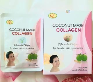 [HCM]Mặt nạ dừa collagen Cửu Long hộp 4 miếng thumbnail