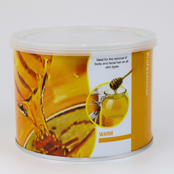 Sáp wax lông mật ong lon cam 400g chuyên dụng cạo tẩy lông toàn thân, lông nách, tay, chân bikin, vùng kín