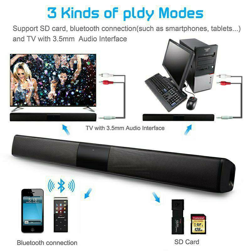Loa Thanh Soundbar Để Bàn Gaming Hỗ Trợ Bluetooth BS-28.B Dùng Cho Tivi, Laptop, Máy Vi Tính, Điện Thoại