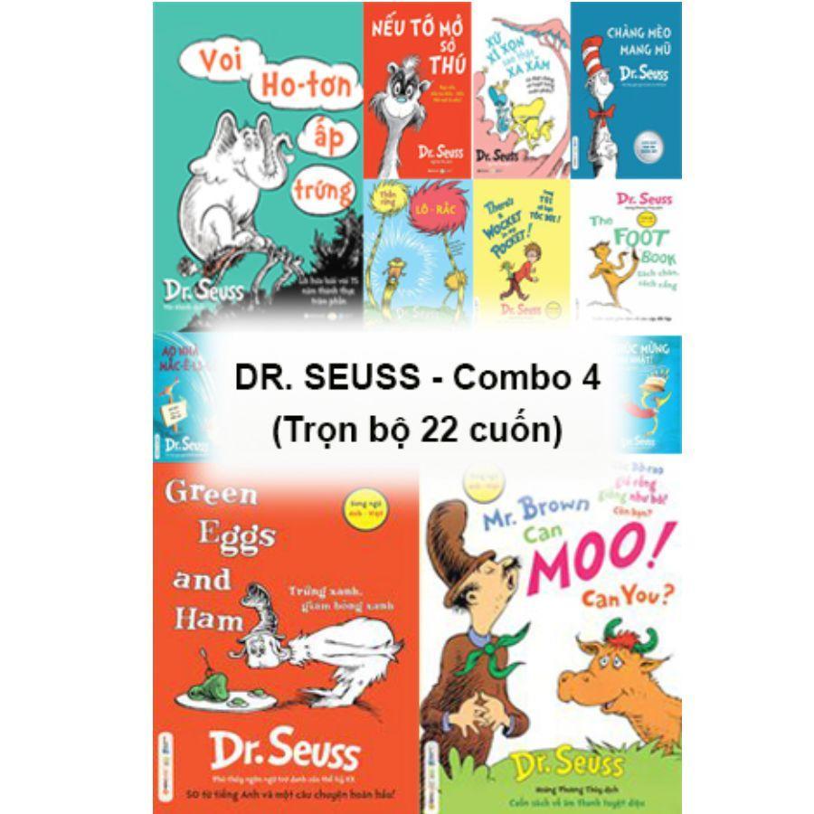 Mua Trọn bộ sách thiếu nhi  Dr. Seuss  (22 cuốn) song ngữ 8 cuốn