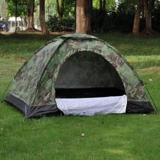 [ BẢO HÀNH 1 ĐỔI 1 ] Lều phượt cắm trại vải dù rằn ri , lều du lịch picnic gia đình , chống muỗi , chống nước cho 2-3 người, 3-4 người thumbnail