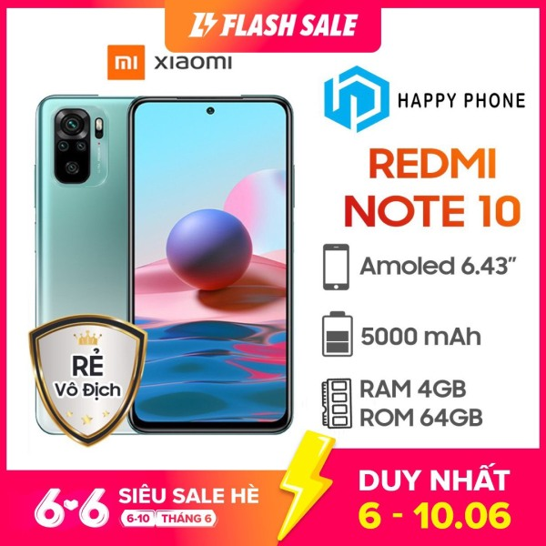 Điện Thoại Xiaomi Redmi Note 10 (4GB/64GB) - Hàng Chính Hãng, mới 100%, Nguyên Seal | Bảo hành 18 tháng