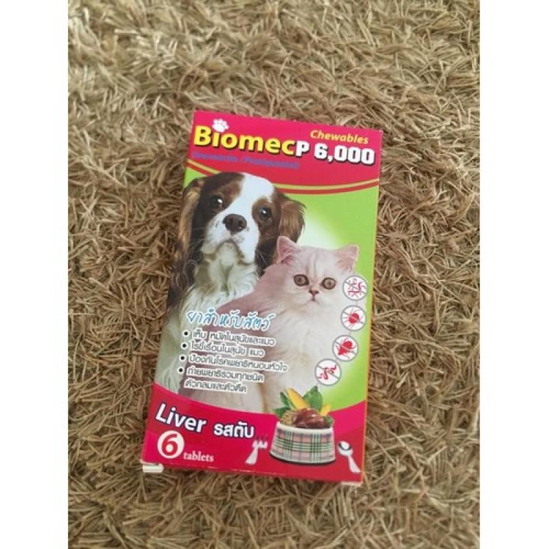 Biomecp6000 Thailand - Viên Tẩy Giun Và Giúp Loại Bỏ Tất Cả Nội Ngoại Ký Sinh Cho Chó Mèo