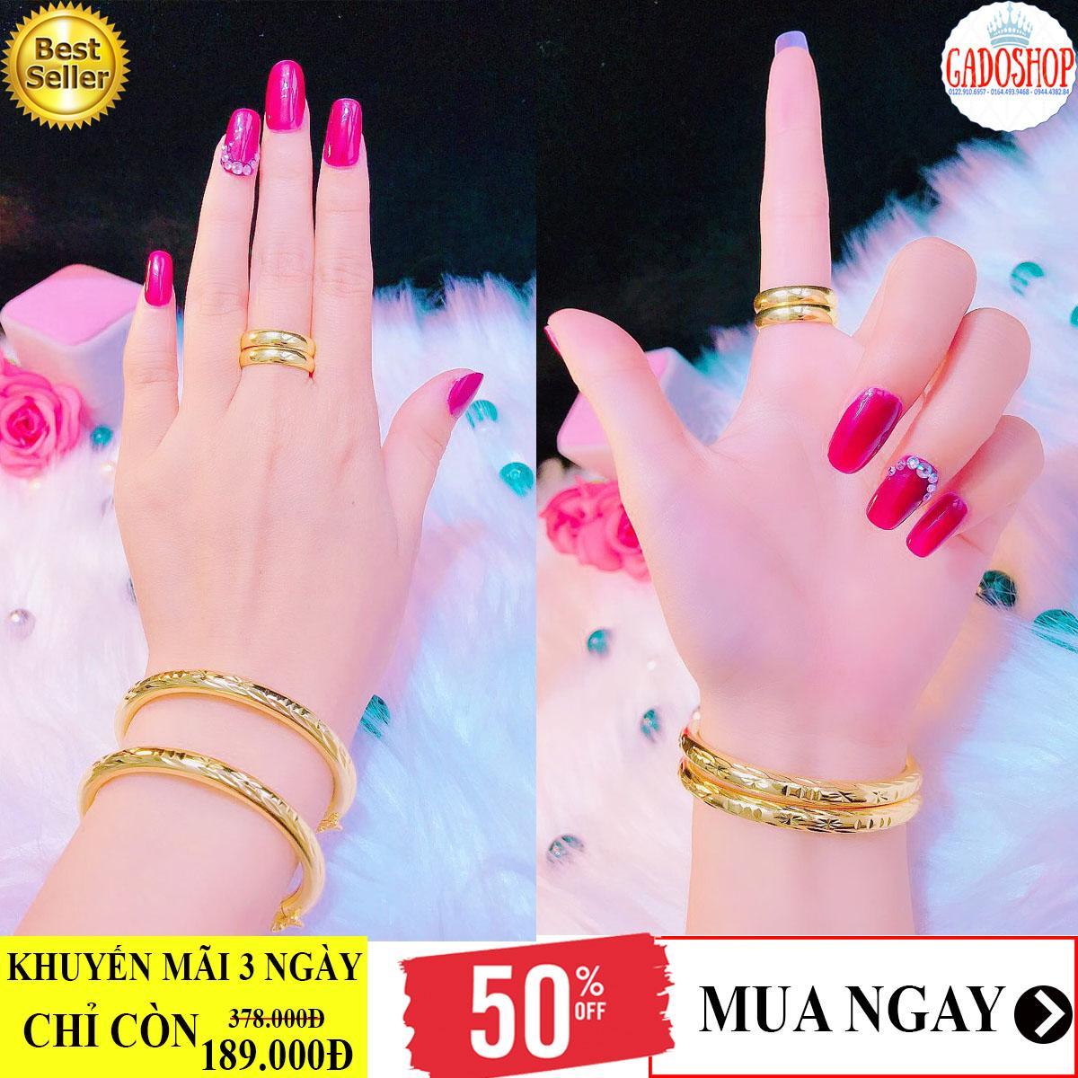 [SIÊU GIẢM GIÁ]Bộ trang sức mạ vàng 18k Trang sức Gami VB201111948 - dùng đi tiệc cực kì sang chảnh
