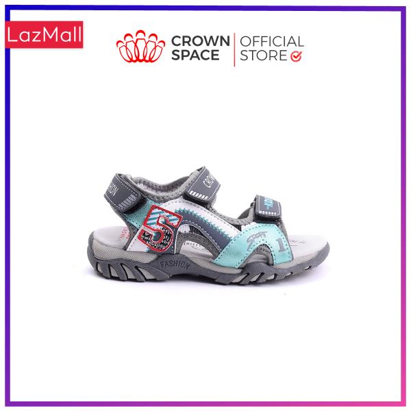 Dép Quai Hậu Bé Trai Đi Học Crown Space Sandals Xăng Đan Trẻ Em Nam Cho Bé Từ 2 Đến 14 Tuổi Chất Liệu Da Nhẹ Êm Thoáng Mát  An Toàn Cho Bé CRUK526