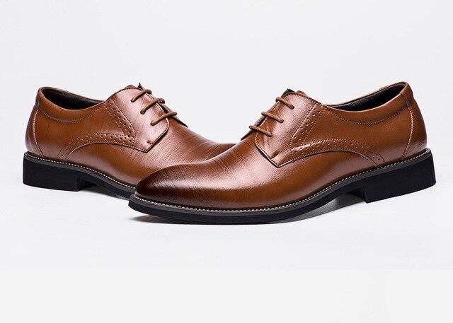Giày Tây Nam Đế Bằng Cổ Điển Mới 2020 Giày Wingtip Bằng Da Thật Được Chạm Khắc Kiểu Ý Oxford Trang Trọng, Ngoại Cỡ 38-48 Cho Mùa Đông