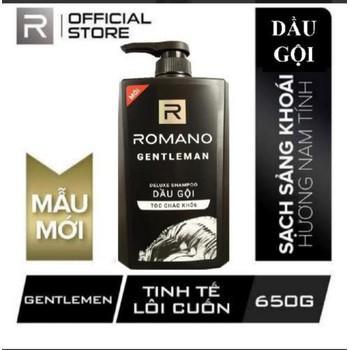 Dầu gội cho nam Romano Gentleman cho tóc chắc khỏe chai 650g chính hãng