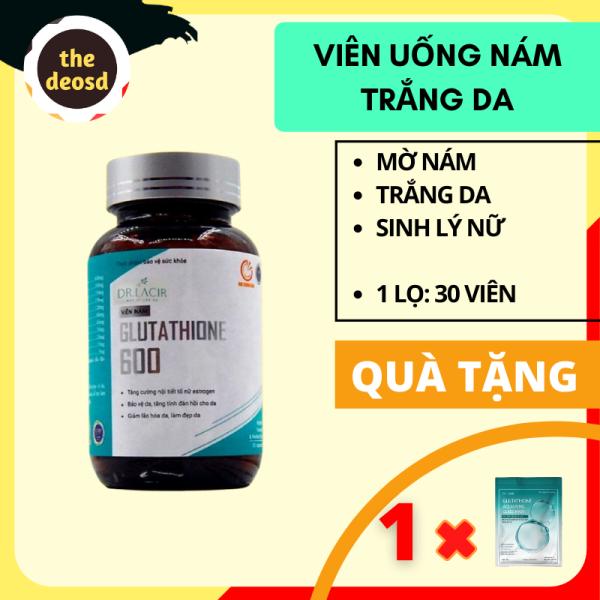 [[ Tặng Mặt Nạ ]] - Viên Uống Glutathione 600 Dr. Lacir - Viên Uống Nám Dr. Lacir / Viên Uống Dr. Lacir / Viên Uống Nám Da / Viên Uống Trắng Da Dr. Lacir / Viên Tàn Nhang / Viên Sinh Lý Nữ / Viên Dưỡng Da - Hàn Quốc - The Deo