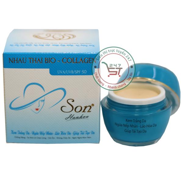 Kem Trắng da SON Ngừa nếp nhăn - Lão hóa - Tái tạo da nhau thai cừu - Collagen (Xanh dương)