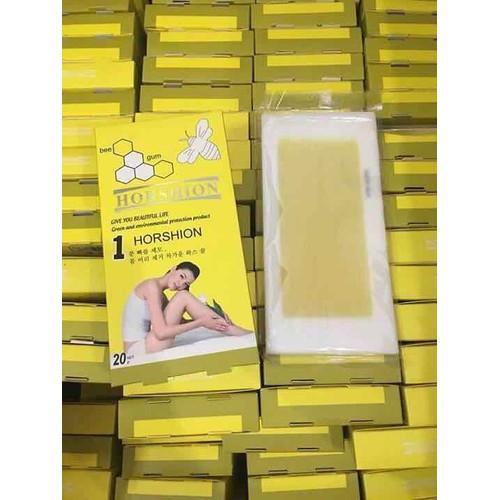 Giấy Wax lông có sẵn dạng miếng Horshion 20 miếng