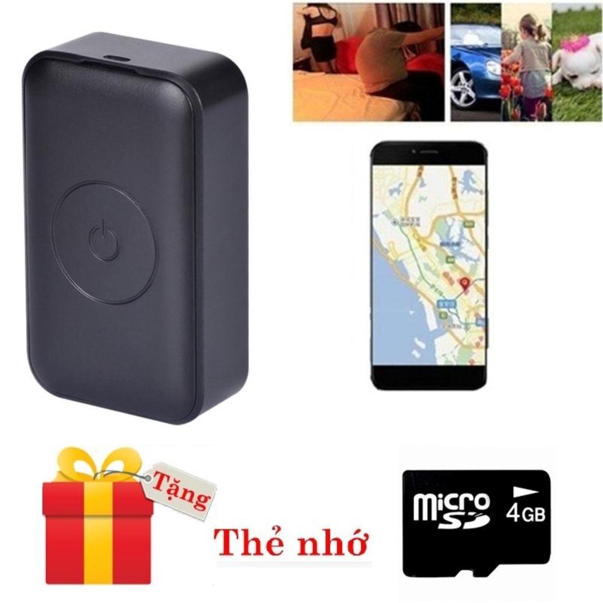 Tặng thẻ Micro 4GB-Thiết bị định vị GPS cao cấp N16S-A1 pin khủng ghi âm và xem trực tiếp vị trí, xem lại lịch sử di chuyển qua app hành trình