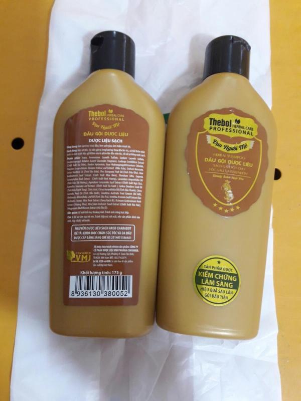 10 chai dầu gội dược liệu màu vàng Thebol  lh: 0944700717 giá rẻ