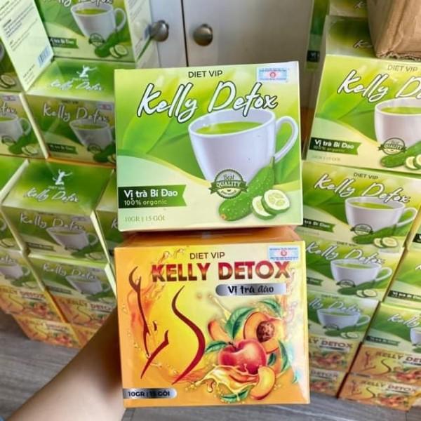 Combo 2 Trà Đào Và Bí Đao DietVip Kelly Detox giá rẻ