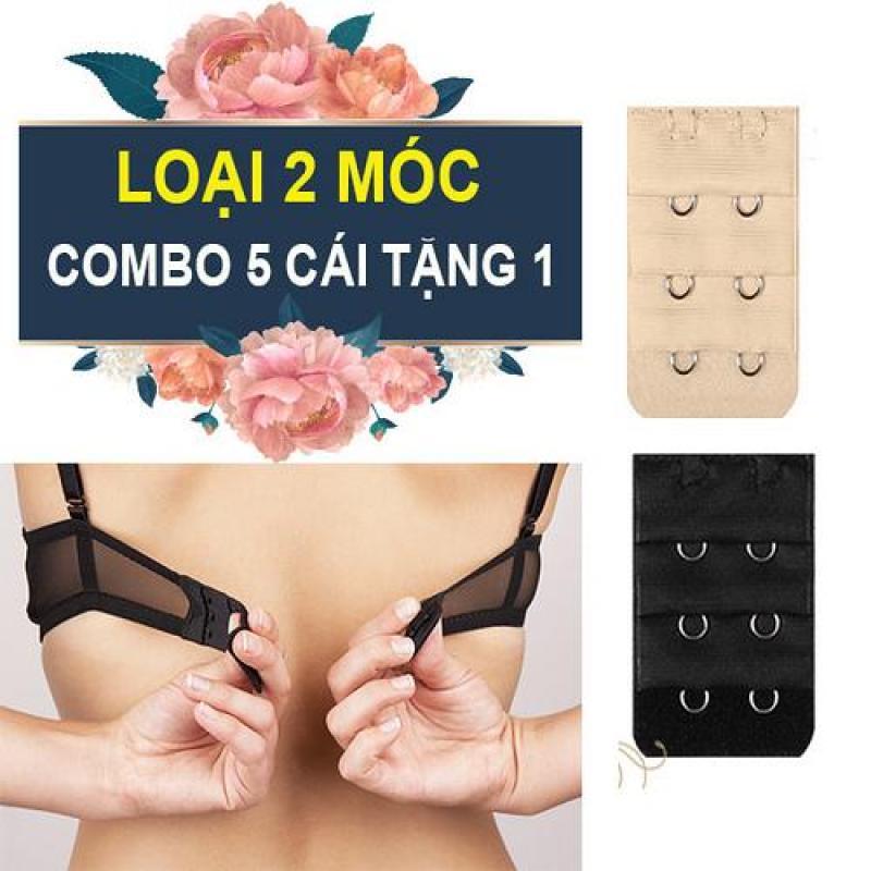 Combo 6 miếng nối dây áo ngực nới rộng áo Loại gài 2 móc