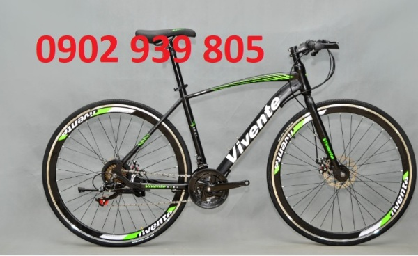 Mua xe đạp 700C tay lái ngang Vivente 700c QUICK khung thép Xe đạp Touring VIVENTE QUICK: Khung Thép, Group SHIMANO 21 tốc độ, Lốp CST 700x25C