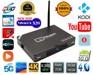 TV Box vinabox X20-2020 Ram 2G Rom 16GB Android 10-Sản phẩm chính hãng