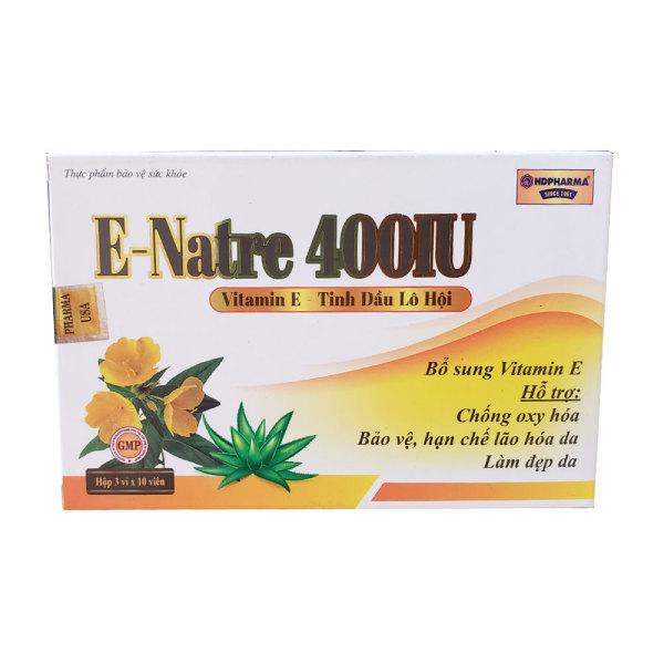 Vitamin E đẹp da hồng hào sáng mịn E natre 30 viên