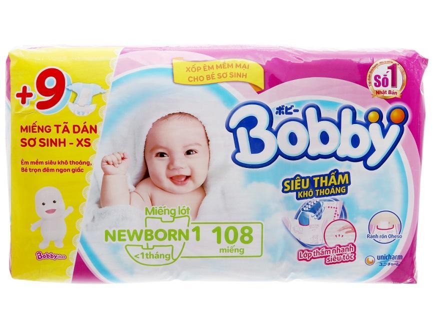 Voucher Khuyến Mại Miếng Lót Sơ Sinh Bobby NB1 108 Miếng [Tặng Kèm 9 Miếng Tã Dán Size XS]