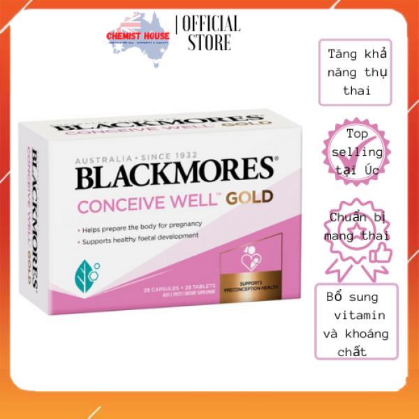 [Hàng Chuẩn ÚC] Blackmores Conceive Well Gold - Viên uống tăng khả năng thụ thai 56 viên