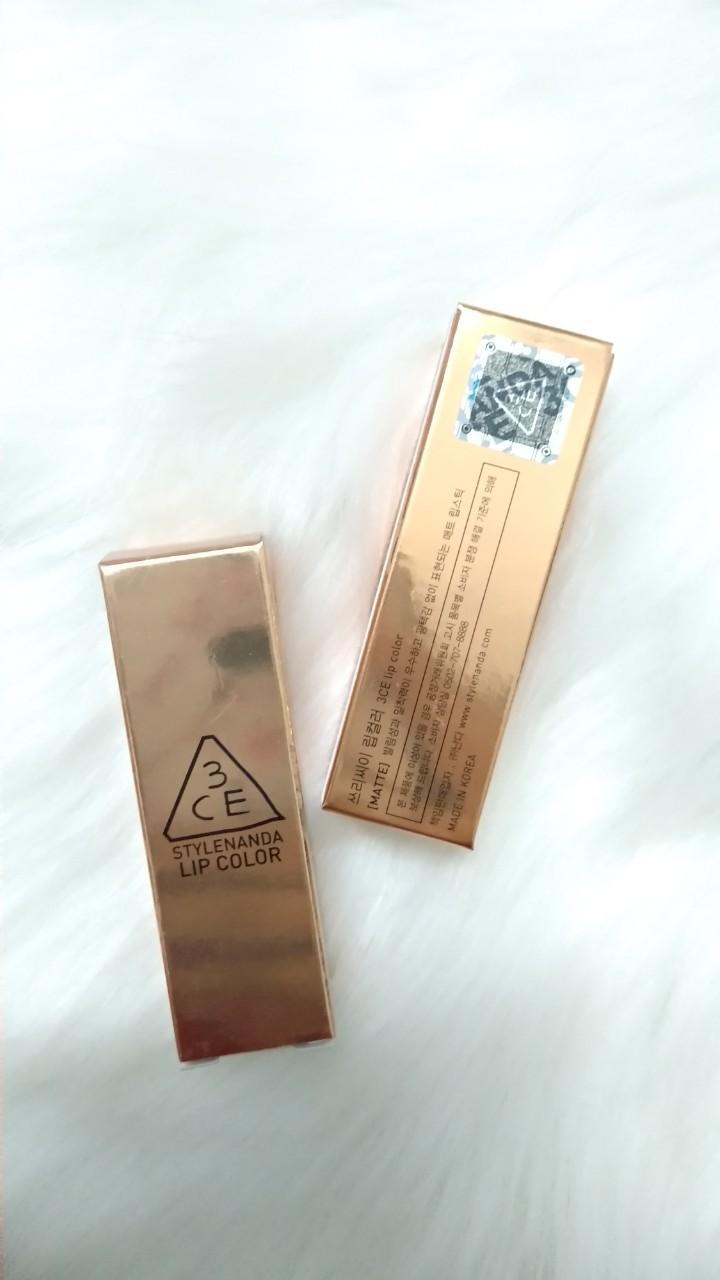 Son 3CE Matte Lip Color vỏ vàng #228 chính hãng