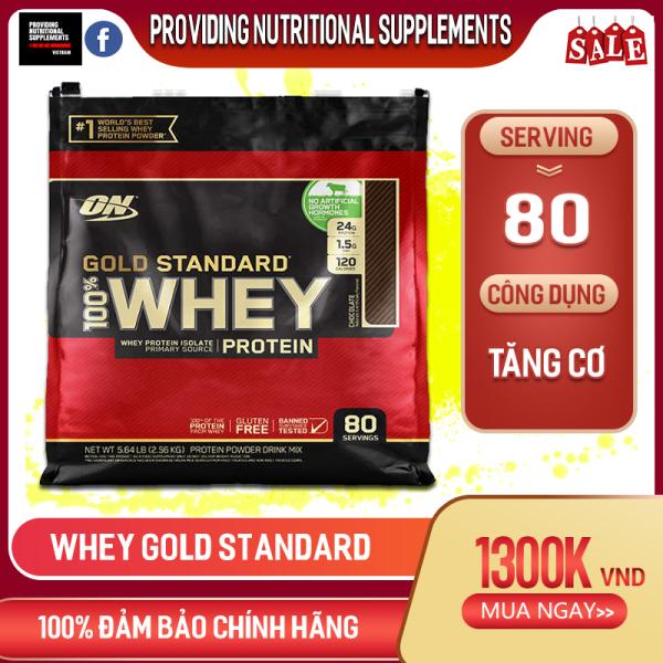[HCM]Whey gold standard - whey gold 80 Lần Dùng - Sữa Tăng Cơ - sữa tăng cơ whey protein ON Gold Standard 5lbs 80 Servings - whey isolate