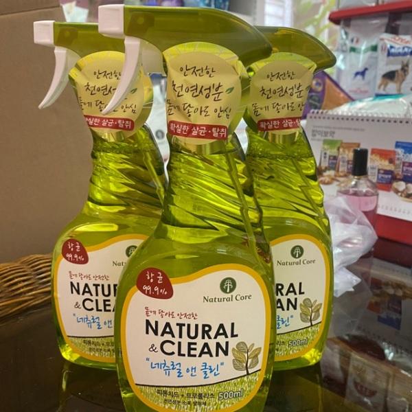 500mil Natural clean xịt khử mùi diệt khuẩn cho chó mèo (chai nho-500mil), chất lượng đảm bảo an toàn đến sức khỏe người sử dụng, cam kết hàng đúng mô tả