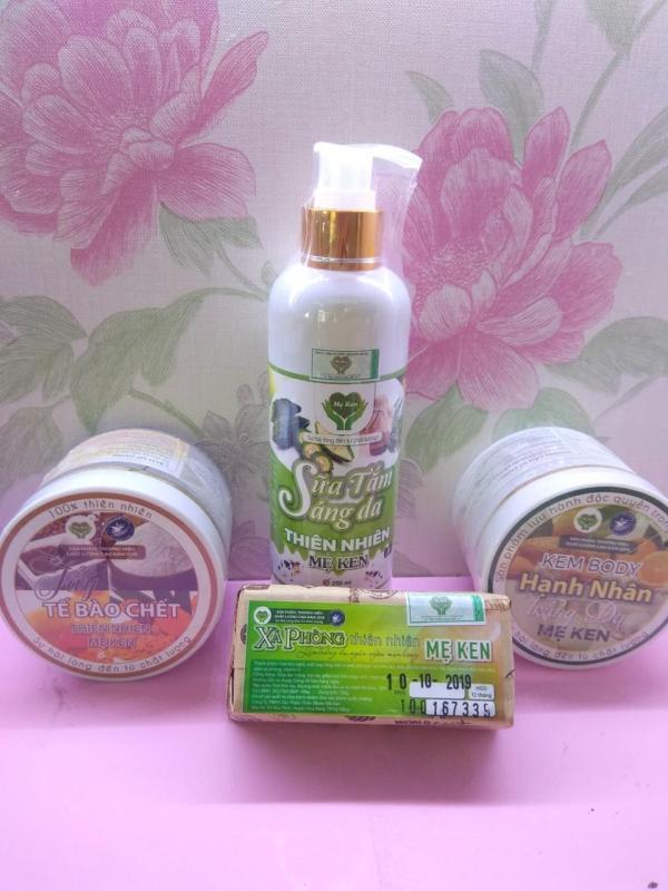 Combo trắng da body thiên nhiên Mẹ Ken-Mua 3 sản phẩm tặng kèm 1 bánh xà bông trị mụn lưng mụn body