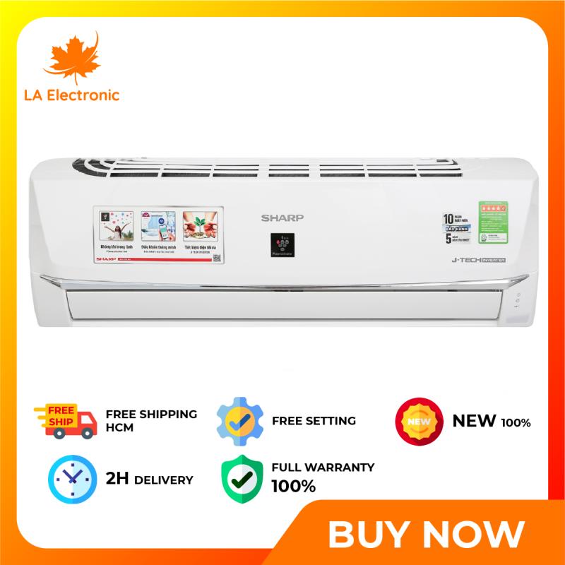 Trả Góp 0% - Máy Lạnh - Sharp Wifi Inverter 1 HP AH-XP10WHW Full VAT - Miễn phí vận chuyển HCM
