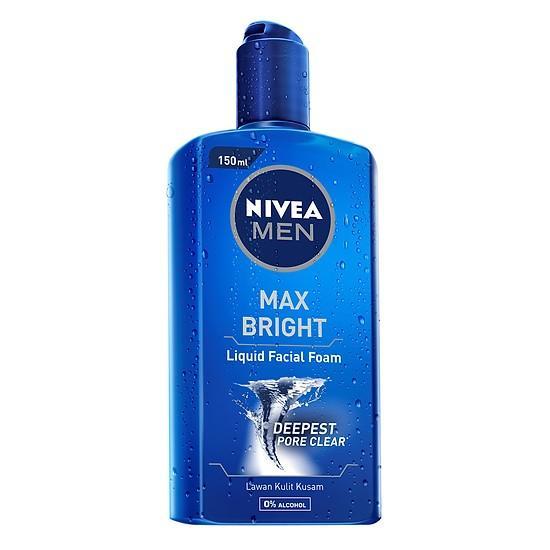 [Thanh lý HSD 05/2020] Gel Rửa Mặt NIVEA MEN Max Bright 150ml cao cấp