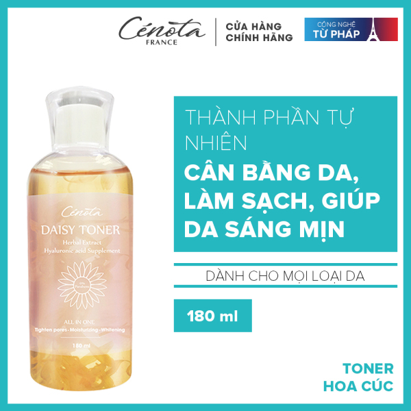 [ Tặng kèm mặt nạ ] Toner hoa cúc Cénota Daisy 300ml - Cung cấp độ ẩm, làm mềm da và ngăn ngừa mụn cao cấp