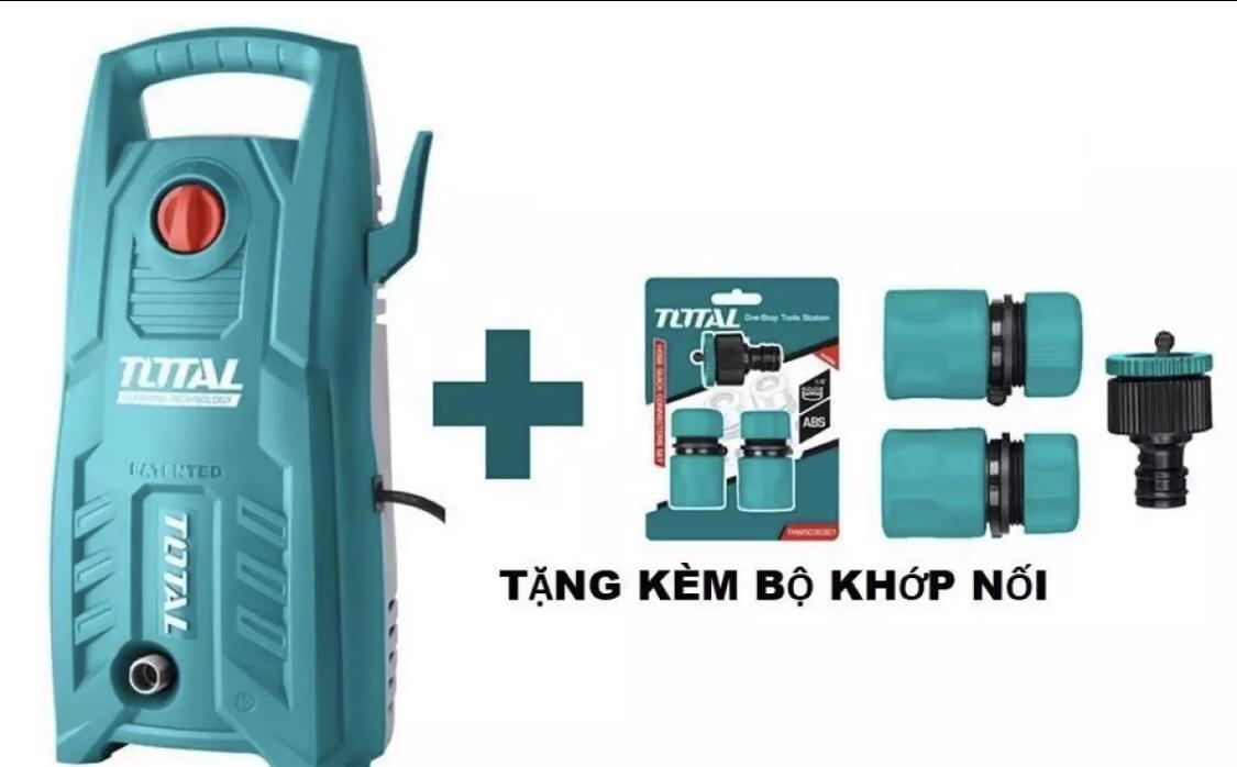 Máy phun xịt rửa áp lực cao 1400W Total TGT11316 (Tặng kèmTotal THWS030301)