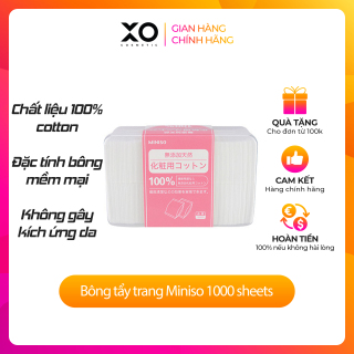 Hộp Bông Tẩy Trang Miniso 1000 Miếng Nhật Bản chính hãng thumbnail