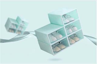 (Lẻ)Hộp Đựng Giày , Tủ Nhựa Lắp Ghép Thông Minh Đa Năng Tiện Lợi Tiết Kiệm Không Gian thumbnail