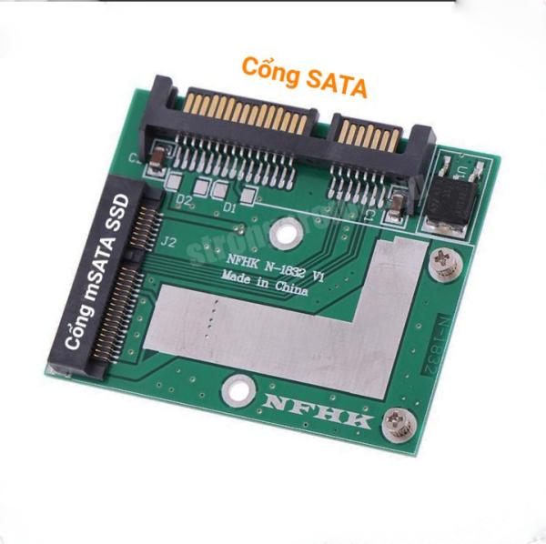 Bảng giá Bo Chuyển Đổi mSATA SSD Sang SATA 2.5 6.0gps Chuyên Dụng Phong Vũ