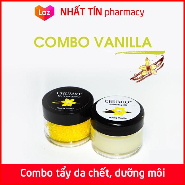 Combo Tẩy Tế Bào Chết Môi và Son Dưỡng Môi Chumio 100% thiên nhiên - Hương Vanilla