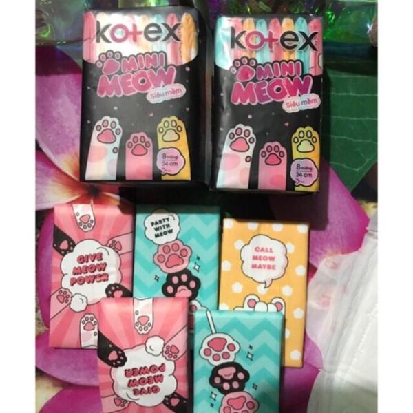 Băng vệ sinh KOTEX mini meow 24cm 8 Miếng giá rẻ