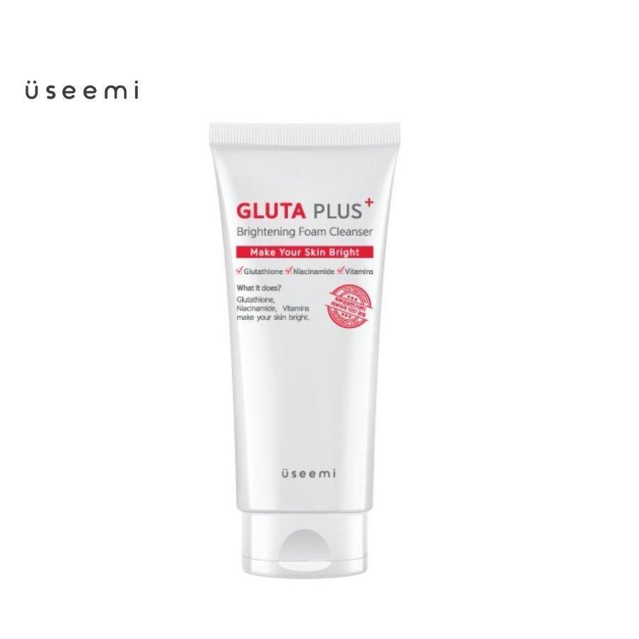 Sữa rửa mặt tạo bọt Useemi Gluta Plus Brightening Foam Cleanser 150ml. Sữa rửa mặt Useemi làm sạch sâu bụi bẩn, lớp trang điểm, giúp sáng da và dưỡng da. Sữa rửa mặt tạo bọt Useemi chính hãng Hàn Quốc, chất lượng cao