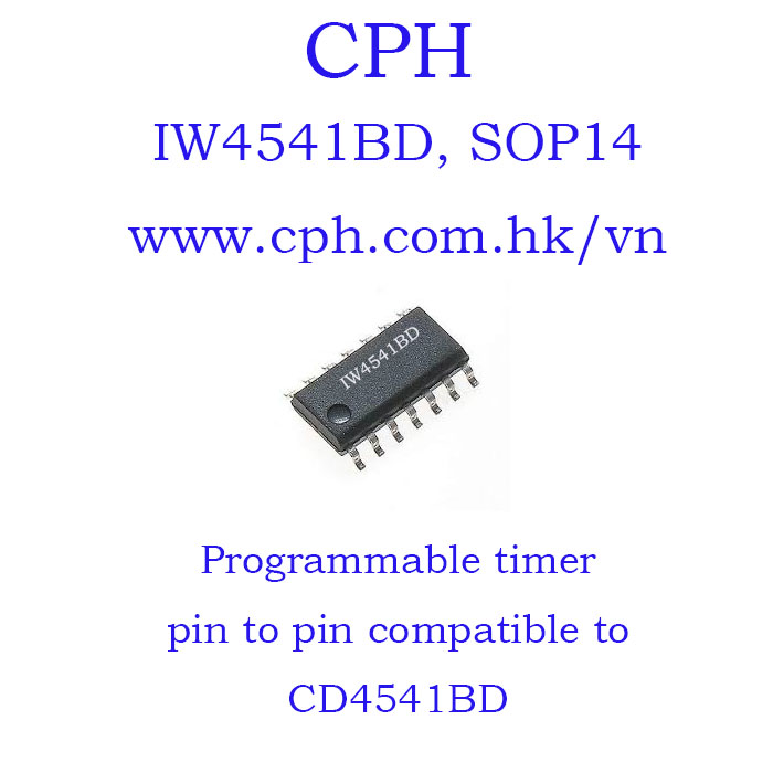 Giá 5pcs IW4541BD CD4541BD IW4541 CD4541 SOP14 IKSemicon Programmable Timer