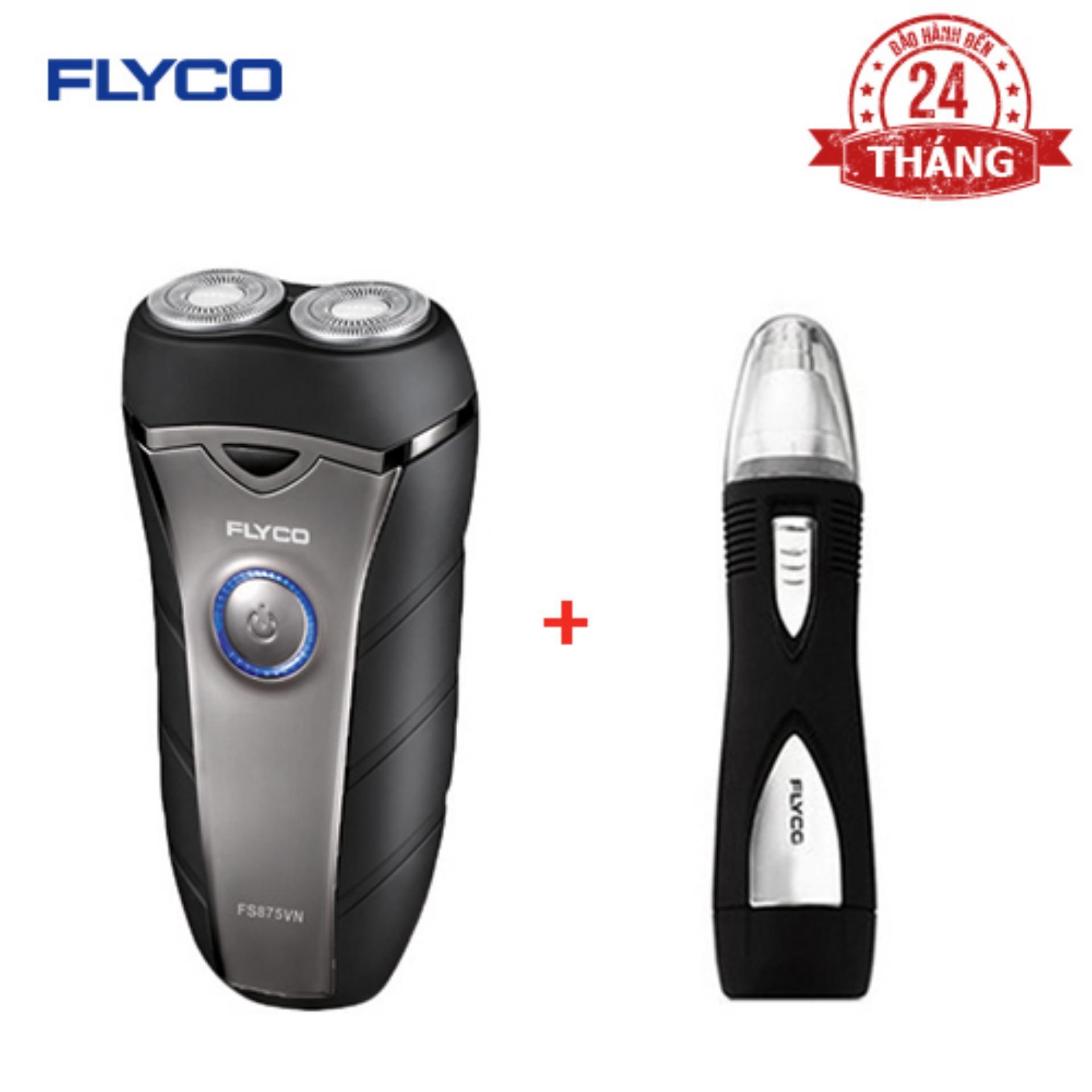 Bộ 1 máy cạo râu Flyco FS 875VN và 1 máy tỉa lông mũi FS7805VN