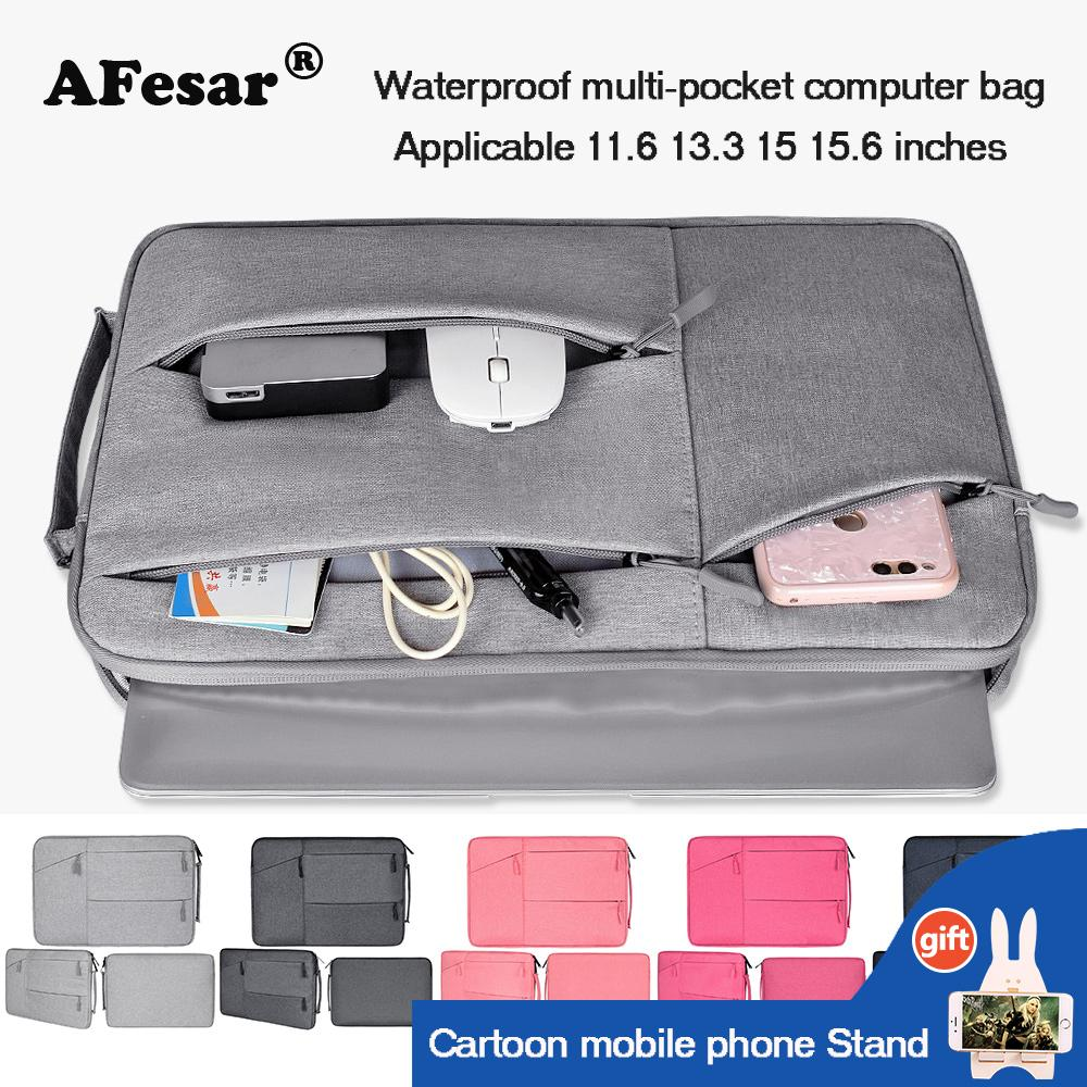 Túi đựng máy tính xách tay tương thích màn hình 11.6 13.3 15 15.6 inch cho máy tính MacBook Air Pro Retina, túi đựng máy tính chất liệu nilon không thấm nước chống trầy chống va đập thiết kế nhiều ngăn tiện lợi - INTL