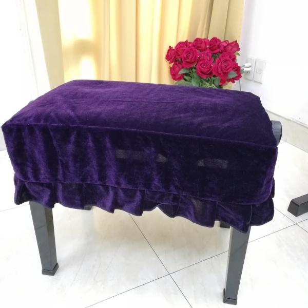 khăn phủ ghế đàn piano cơ,piano điện ,nhung tím mềm mịn