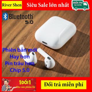 Tai nghe Bluetooth i12 Hỗ Trợ Mọi Dòng Máy , Tai Nghe Bluetooth Mini, TWS Bản Nâng Cấp Chip 5.0, Tai nghe Nhét Tai Không Dây i12, Tai nghe buetooth cảm ứng thumbnail