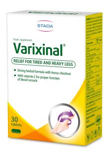 Viên uống ngăn ngừa bệnh trĩ và suy giãn tĩnh mạch chân Varixinal - Hộp 30 viên - Châu Âu - Stada 1