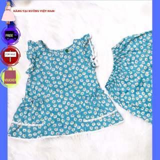 Đồ bộ TITIKIDS cách tiên thoáng mát thích hợp cho các bé gái mặc tại nhà - Đồ bộ mùa hè cho bé - Đồ bộ thoáng mát cho bé mùa HÈ này