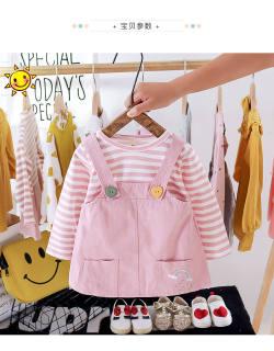 Đầm yếm xinh cho bé yêu, váy yếm liền áo bé gái, bộ đồ bé Hàng Quảng Châu thiết kế V5