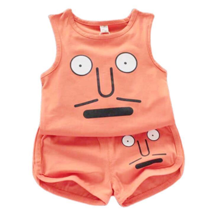 Bộ quần áo bé trai bé gái chất liệu 100% cotton 2 chiều mềm mịn thoáng mát ( 6-16kg) Nhật Bản