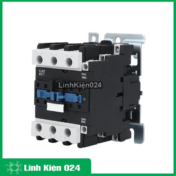 Khởi động từ contactor CJX2-6511 380v 65a thường đóng NC và mở NO vỏ chống cháy, công suất lớn