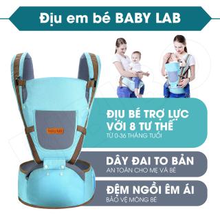 Địu em bé Baby Lab nhiều tư thế, Đai địu có bệ ngồi Baby Lab, Địu trẻ em an toàn cho bé từ 0 đến 36 tháng, thoáng mát, nhẹ và mềm mại, trợ lực tốt thumbnail
